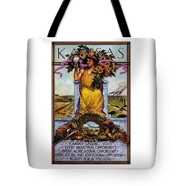 1911 Kansas Poster Tote Bag