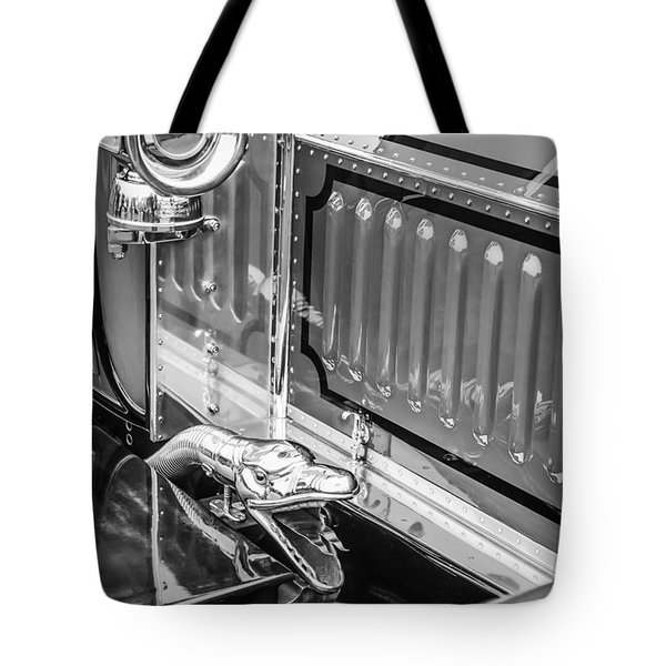 1912 Rolls-royce Silver Ghost Rothchild Et Fils Style Limousine Snake Horn -0711bw Tote Bag by Jill Reger