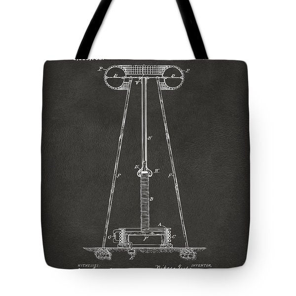 1914 Tesla Transmitter Patent Artwork - Gray Tote Bag