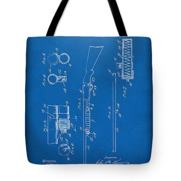 1915 Ithaca Shotgun Patent Blueprint Tote Bag