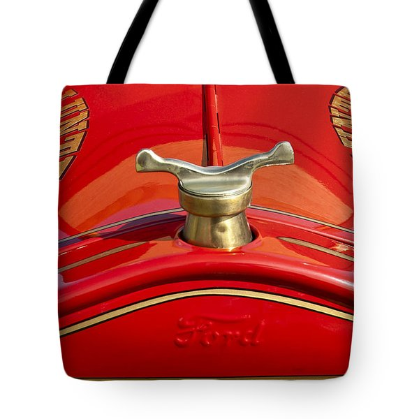 1919 Ford Volunteer Fire Truck Tote Bag by Jill Reger