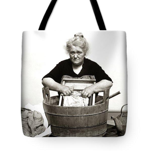 1920s 1930s 1940s Senior Woman Washing Tote Bag