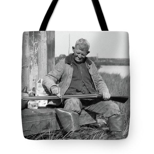 1920s 1930s Senior Man Sitting On Bench Tote Bag