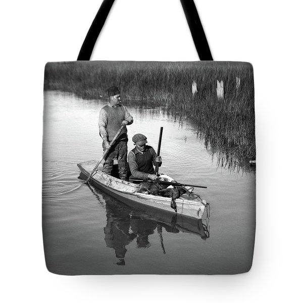1920s Two Men Duck Hunters Tote Bag