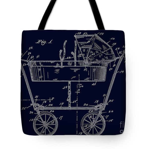 1922 Baby Carriage Patent Art Blueprint Tote Bag