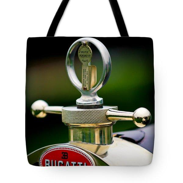 1923 Bugatti Type 23 Brescia Lavocat Et Marsaud Hood Ornament Tote Bag by Jill Reger