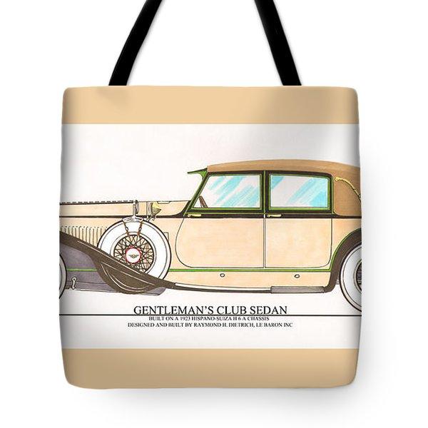 1923 Hispano Suiza Club Sedan By R.h.dietrich Tote Bag by Jack Pumphrey