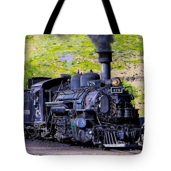 1923 Vintage  Railroad Train Locomotive  Tote Bag