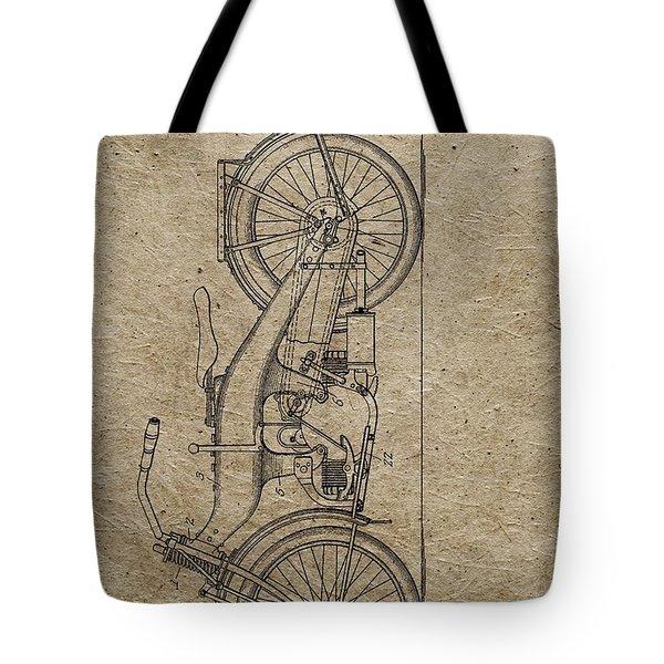 1924 Harley Davidson Patent Tote Bag
