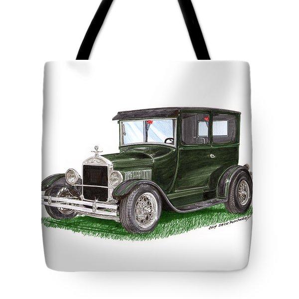 1926 Ford Tudor Sedan Street Rod Tote Bag by Jack Pumphrey