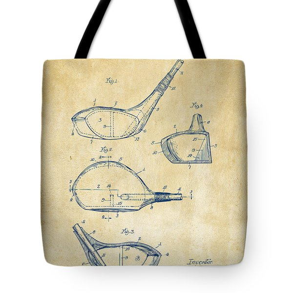 1926 Golf Club Patent Artwork - Vintage Tote Bag