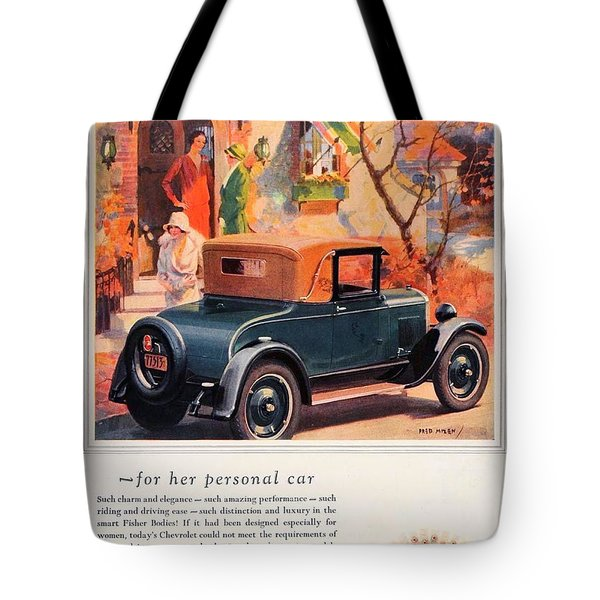 1927 - Chevrolet Advertisement - Color Tote Bag