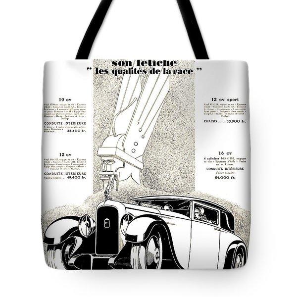 1928 - Delehaye Automobile Advertisement Tote Bag