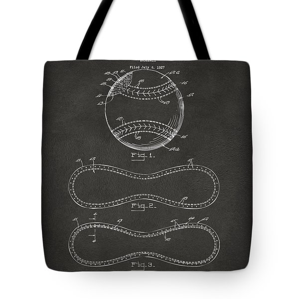 1928 Baseball Patent Artwork - Gray Tote Bag