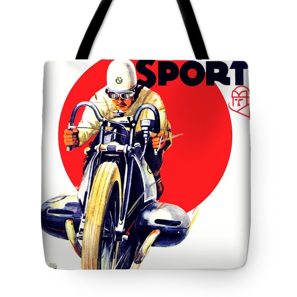 1929 - Bmw Motorcycle Poster - Color Tote Bag