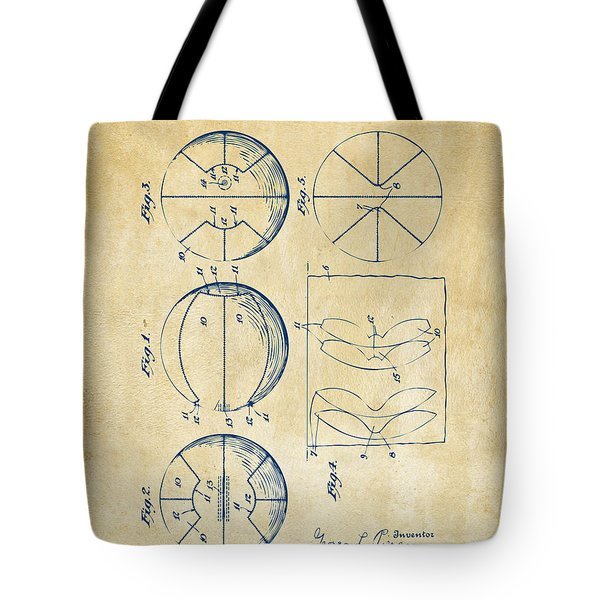 1929 Basketball Patent Artwork - Vintage Tote Bag