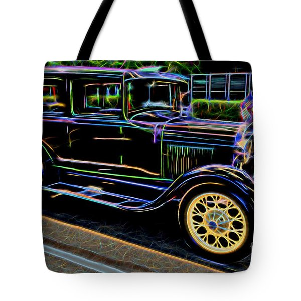 1929 Ford Model A - Antique Car Tote Bag by Gary Whitton
