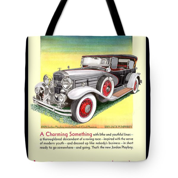 1929 Jordan Model G Vintage Ad Tote Bag