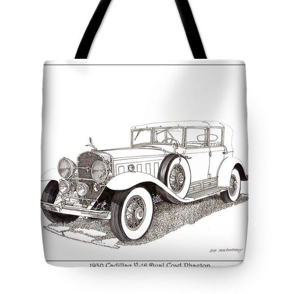 1930 Cadillac V-16 Dual Cowl Phaeton Tote Bag