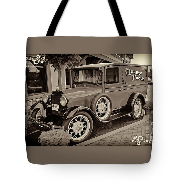 1930 Ford Panel Truck Tote Bag by Richard Farrington