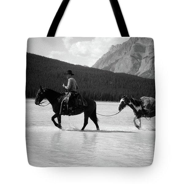 1930s 1940s Cowboy On Horseback Tote Bag