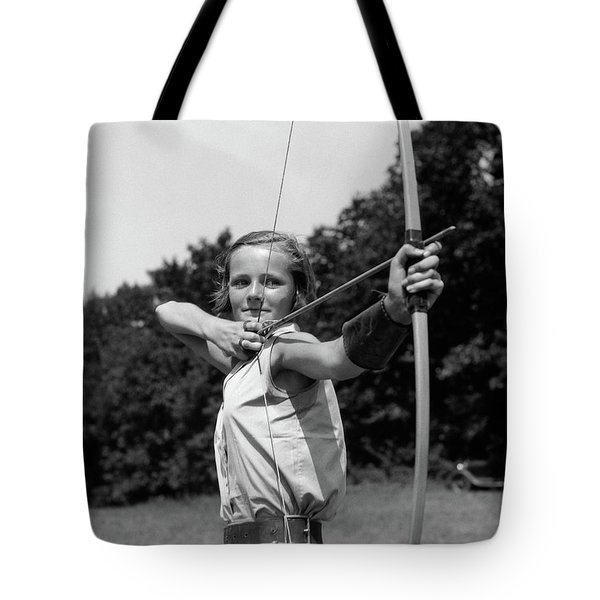 1930s Girl Wearing A Camp Jumper Tote Bag