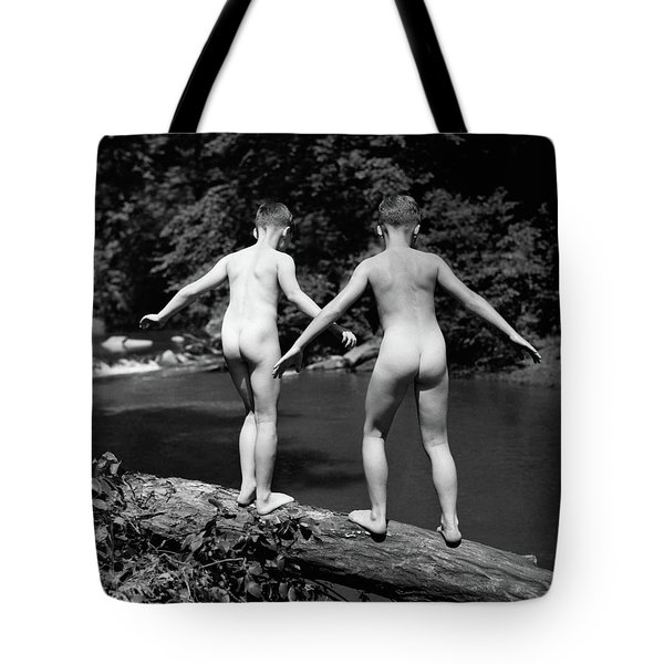 1930s Rear View Pair Naked Skinny- Tote Bag
