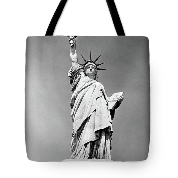 1930s Statue Of Liberty Ny Harbor Ellis Tote Bag
