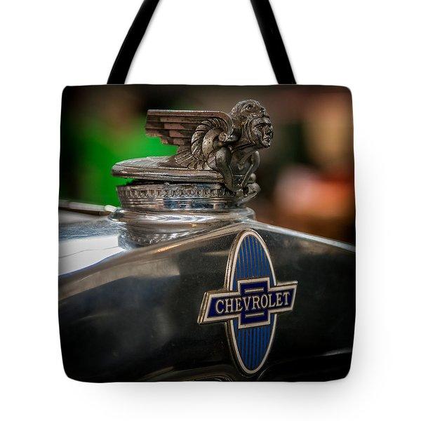 1931 Chevrolet Emblem Tote Bag by Paul Freidlund