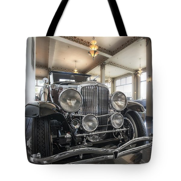 1931 Duesenberg Model J Convertible Coupe Tote Bag by Gary Warnimont