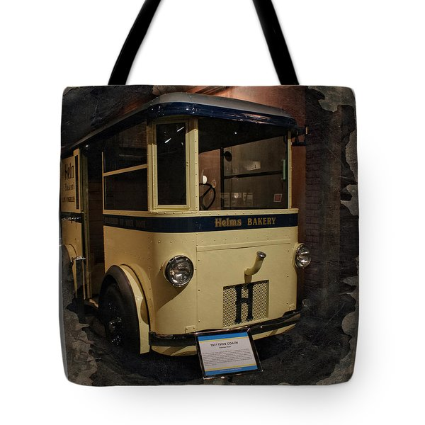1931 Helms Bakery Truck Square Tote Bag