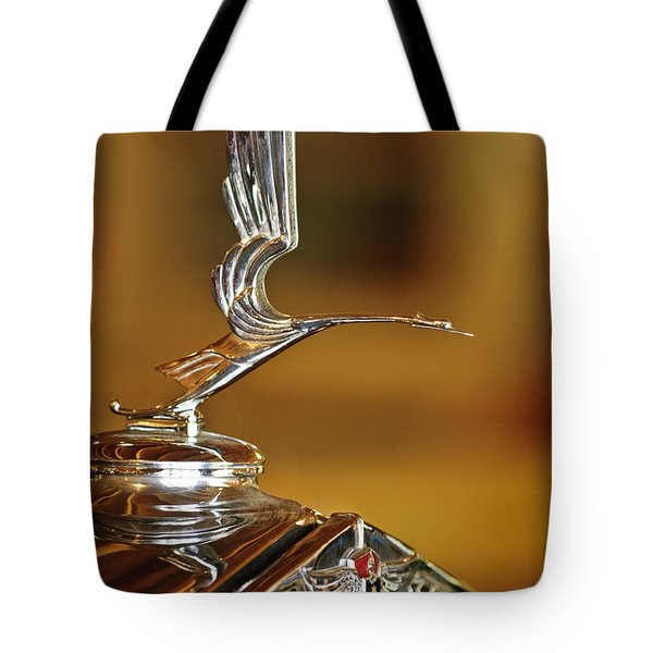 1931 Lasalle Hood Ornament Tote Bag by Jill Reger