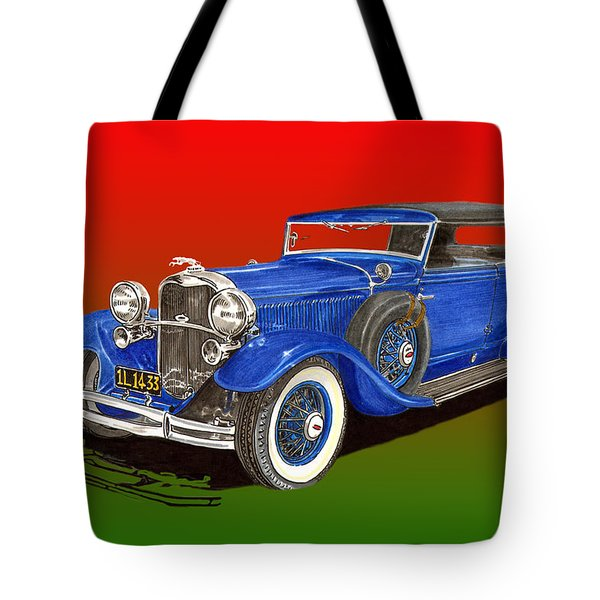 1931 Lincoln K Four Door Convertible Tote Bag by Jack Pumphrey