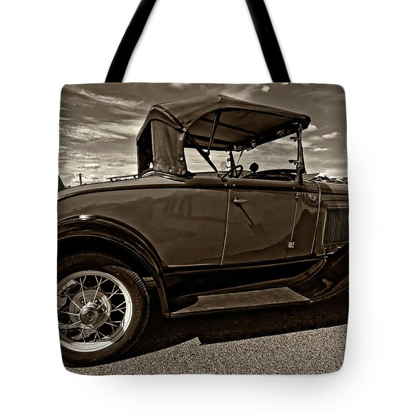 1931 Model T Ford Monochrome Tote Bag by Steve Harrington