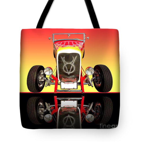 1932 Front Ford V8 Hotrod Tote Bag by Jim Carrell