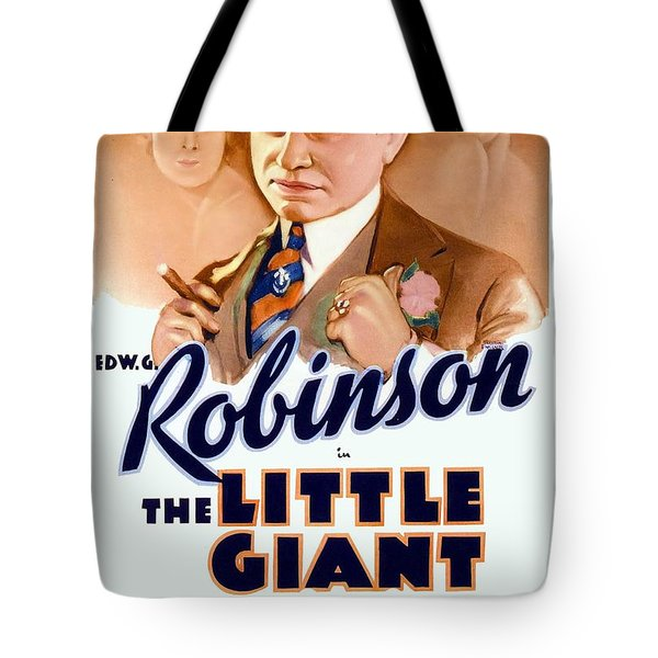 1933 - The Little Giant - Warner Brothers Movie Poster - Edward G Robinson - Color Tote Bag