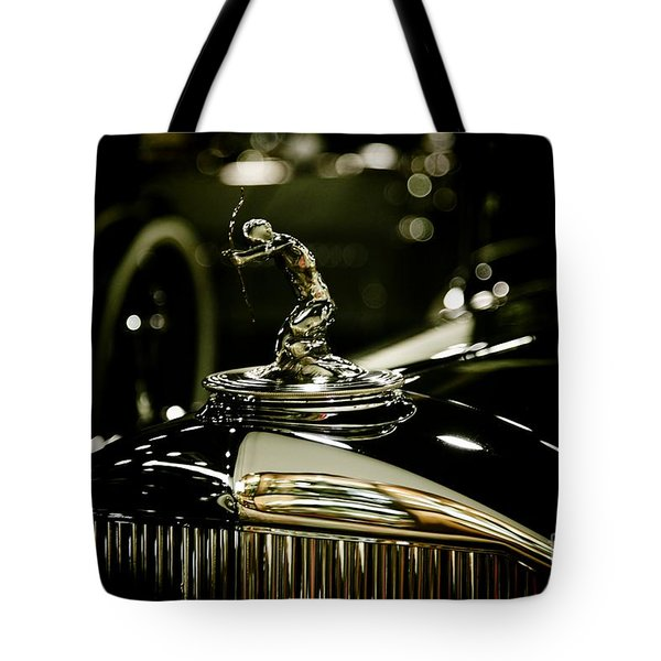 1933 Pierce Arrow Hood Ornament Tote Bag by Nina Prommer