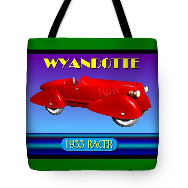 Tote Bag featuring the digital art 1933 Wyandotte Racer by Stuart Swartz