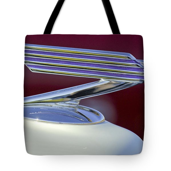 1934 Chevrolet Hood Ornament Tote Bag by Jill Reger