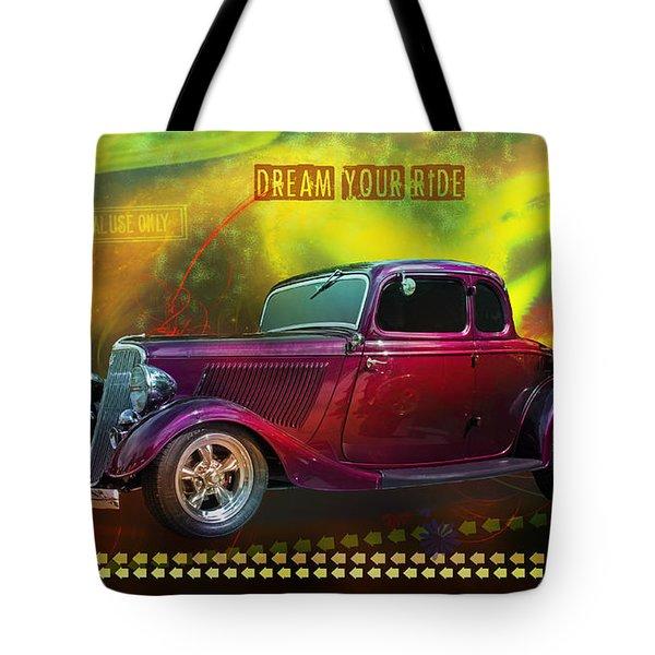 1934 Ford 5 Window Gennie Tote Bag