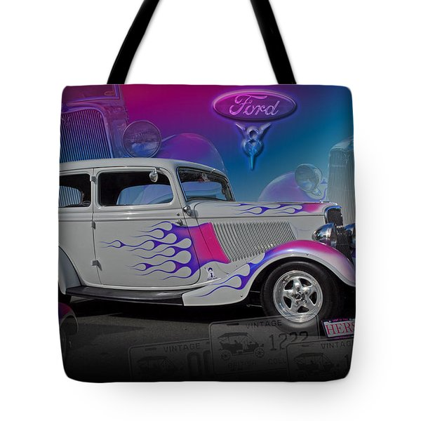 1934 Ford Delux Tote Bag