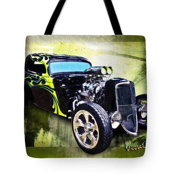 1934 Ford Three Window Coupe Hot Rod Tote Bag