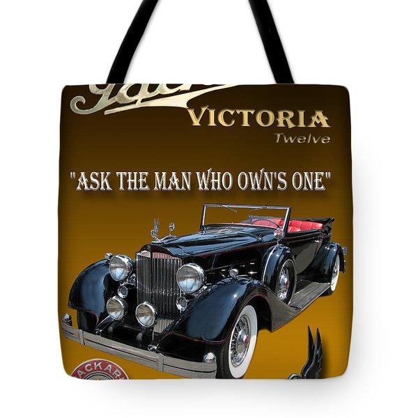 1934 Packard Tote Bag by Jack Pumphrey
