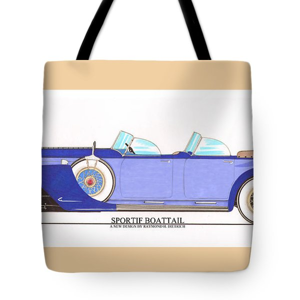 1934 Packard Sportif Boattail Concept By Dietrich Tote Bag by Jack Pumphrey
