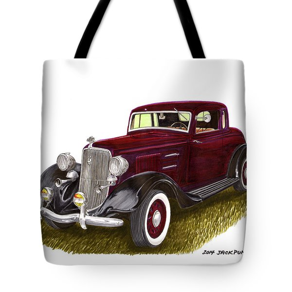 1934 Plymouth P E Coupe Tote Bag by Jack Pumphrey