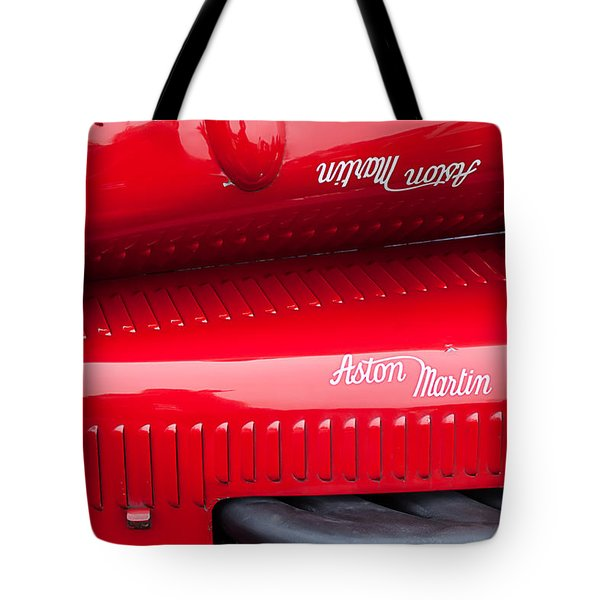 1935 Aston Martin Ulster Race Car Hood Tote Bag