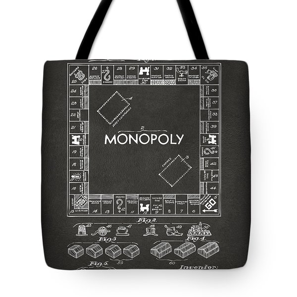 1935 Monopoly Game Board Patent Artwork - Gray Tote Bag