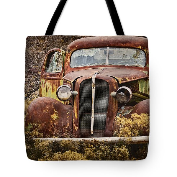 1936 Chevy Coupe With Memories Tote Bag