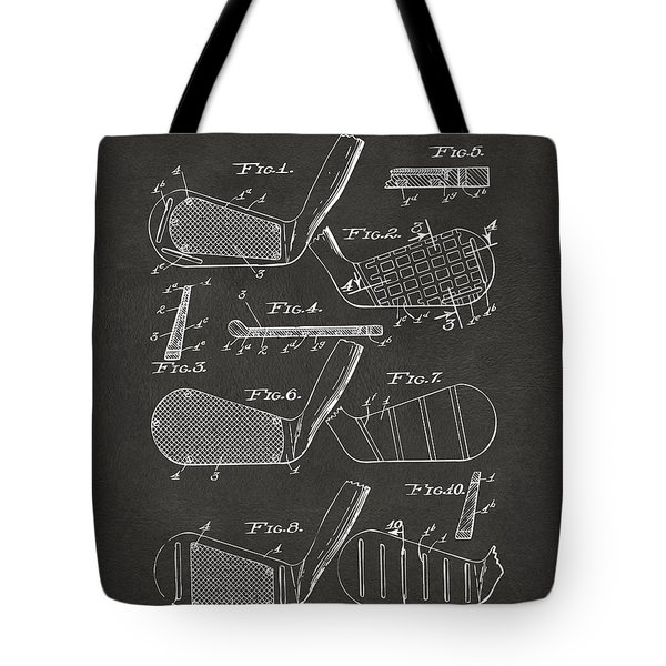 1936 Golf Club Patent Artwork - Gray Tote Bag