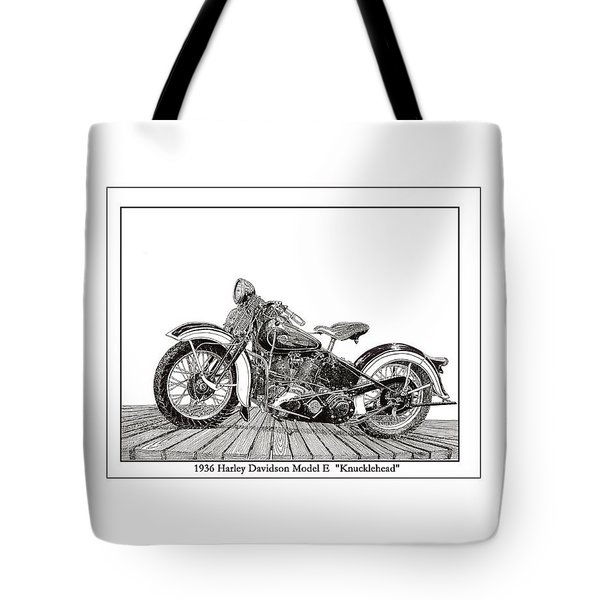 1936 Harley Knucklehead Tote Bag